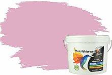 RyFo Colors Bunte Wandfarbe Manufakturweiß Babyrosa 6l - weitere Violett Farbtöne und Größen erhältlich, Deckkraft Klasse 1, Nassabrieb Klasse 1