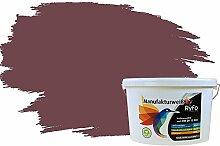 RyFo Colors Bunte Wandfarbe Manufakturweiß Bordeauxbraun 10l - weitere Violett Farbtöne und Größen erhältlich, Deckkraft Klasse 1, Nassabrieb Klasse 1