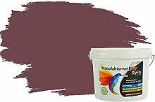 RyFo Colors Bunte Wandfarbe Manufakturweiß Bordeauxbraun 3l - weitere Violett Farbtöne und Größen erhältlich, Deckkraft Klasse 1, Nassabrieb Klasse 1