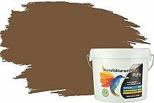 RyFo Colors Bunte Wandfarbe Manufakturweiß Dunkelbraun 6l - weitere Braun Farbtöne und Größen erhältlich, Deckkraft Klasse 1, Nassabrieb Klasse 1