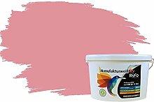 RyFo Colors Bunte Wandfarbe Manufakturweiß Flamingopink 10l - weitere Violett Farbtöne und Größen erhältlich, Deckkraft Klasse 1, Nassabrieb Klasse 1