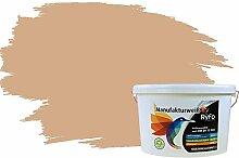 RyFo Colors Bunte Wandfarbe Manufakturweiß Nudebraun 10l - weitere Braun Farbtöne und Größen erhältlich, Deckkraft Klasse 1, Nassabrieb Klasse 1