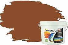RyFo Colors Bunte Wandfarbe Manufakturweiß Nussbaum 6l - weitere Braun Farbtöne und Größen erhältlich, Deckkraft Klasse 1, Nassabrieb Klasse 1