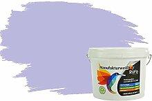 RyFo Colors Bunte Wandfarbe Manufakturweiß Orchidee 3l - weitere Violett Farbtöne und Größen erhältlich, Deckkraft Klasse 1, Nassabrieb Klasse 1