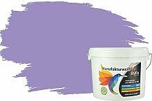 RyFo Colors Bunte Wandfarbe Manufakturweiß Orchideenpurpur 6l - weitere Violett Farbtöne und Größen erhältlich, Deckkraft Klasse 1, Nassabrieb Klasse 1