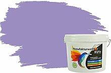 RyFo Colors Bunte Wandfarbe Manufakturweiß Orchideenpurpur 3l - weitere Violett Farbtöne und Größen erhältlich, Deckkraft Klasse 1, Nassabrieb Klasse 1