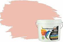 RyFo Colors Bunte Wandfarbe Manufakturweiß Prinzessinnenrosa 6l - weitere Violett Farbtöne und Größen erhältlich, Deckkraft Klasse 1, Nassabrieb Klasse 1