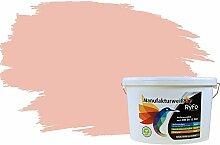 RyFo Colors Bunte Wandfarbe Manufakturweiß Prinzessinnenrosa 10l - weitere Violett Farbtöne und Größen erhältlich, Deckkraft Klasse 1, Nassabrieb Klasse 1
