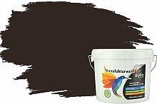 RyFo Colors Bunte Wandfarbe Manufakturweiß Schwarzbraun 6l - weitere Braun Farbtöne und Größen erhältlich, Deckkraft Klasse 1, Nassabrieb Klasse 1