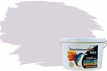 RyFo Colors Bunte Wandfarbe Manufakturweiß Zartviolett 10l - weitere Violett Farbtöne und Größen erhältlich, Deckkraft Klasse 1, Nassabrieb Klasse 1