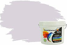 RyFo Colors Bunte Wandfarbe Manufakturweiß Zartviolett 3l - weitere Violett Farbtöne und Größen erhältlich, Deckkraft Klasse 1, Nassabrieb Klasse 1
