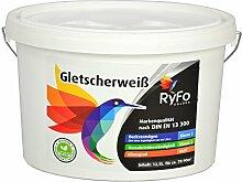 RyFo Colors Gletscherweiß 12,5l - extra-weiße Wand-Farbe, sehr hoher Weißgrad, Innen-Dispersion, geruchsarm, lösemittelfrei, zertifizier