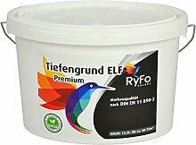 RyFo Colors Tiefgrund ELF Premium - Synthese aus Grundierung und Wandfarbe - hochwertige Spezialgrundierung in Maler- und Handwerkerqualität, Tiefengrund für innen und außen, Haftgrund, E.L.F., lösemittelfrei, emissionsam, geruchsarm, zertifizier