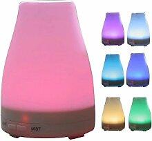 Ryham 7 Elektrische LED 100 ML Licht Aromatherapie ätherisches Öl Diffusor kühlen Nebel-Aroma Ultraschall-Luftbefeuchter
