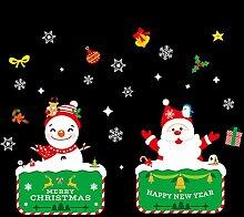 RYWS Kreativ Weihnachten Glas Aufkleber,Fenster