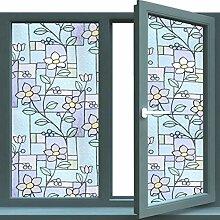 RYWS Statische Fenster Glas-Filme,Badezimmer