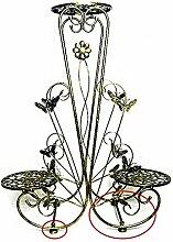 RZM Blumenständer Eisen Blume Rack Boden Typ Blume Rack Wohnzimmer Balkon Blume Rack Succulent Pflanzen Blume Rack Dekoration Einfache Blume Rack Pflanzentreppe ( Farbe : C , größe : 70*25*90cm )