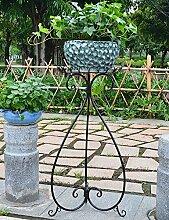 RZM Blumenständer Europäische Art-Eisen-Blumen-Zahnstange-Fußboden-Art Blumen-Topf-Rahmen-Balkon Wohnzimmer-Spinnen-Pflanzen Bonsais-Feld-Blumen-Gestell Pflanzentreppe ( Farbe : B , größe : II )