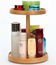 RZM Holzdrehende Kosmetik Storage Box Desktop Storage Regale Skin Care Products Lagerschrank Bestseller ( größe : M )