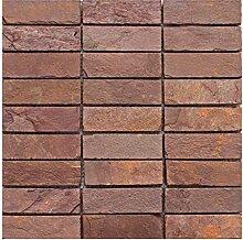 S-001 Schiefer Naturstein Mosaik Fliesen Wand