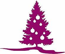 S _ chtree58Christmastree 60x49cm Farbe wählen 18Farben auf Lager Weihnachtsbaum, Weihnachten Dekoration, Windows und Wandtattoo, Wand Windows Art, Kinder Zimmer Sticker, Aufkleber, Weihnachten, ThatVinylPlace himbeere