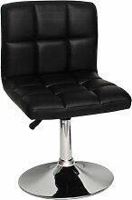 s-ideen 1 x Barhocker großer Polster Barstuhl Lounge Sessel Barsessel in Schwarz Chrom
