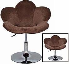 s-ideen 1x Barhocker Blume in Braun in Blumenform Lounge Sessel Barsessel Clubsessel Cocktailsessel Drehsessel