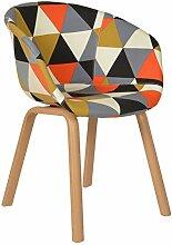 s-ideen 1x Design Patchwork Sessel Wohnzimmer Büro Stuhl Esszimmer Sitz Stoff bunt Metallbeine