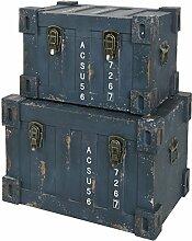 s-ideen 2er Set Container Industrie Design Blau