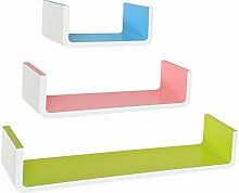 s-ideen 3er Set Design Trend Retro Regal Wandregal