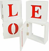 s-ideen 4er Set Lounge Cube Regal mit Türen