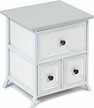 s-ideen Design Kommode Nachttisch Schrank mit