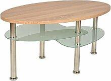 s-ideen Design Wohnzimmer Holz Glastisch