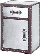 s-ideen Kommode Schrank Aluminium in Silber im