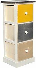 s-ideen Landhaus Kommode Holz mit 3 Schubladen