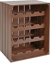 s-ideen Landhaus Weinregal Braun für 16 Flaschen