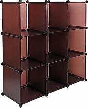 s-ideen Regal Schrank Steckregal Standregal Sideboard Wandregal Flurschrank Braun 114 x 114 cm