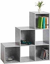 s-ideen Stufenregal Design Regal 6 Fächer