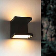 s.LUCE Cobo / LED-Aussen-Wandleuchte Up&Down 2x6W / anthrazi