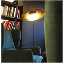 s.LUCE LED-Stehleuchte Plate mit Mamorfuß &