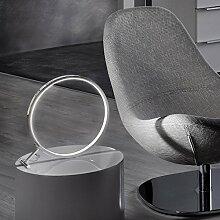 s.LUCE Q-Ring LED Tischleuchte Ø30 cm Chrom