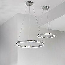 s.LUCE Ring S LED-Hängeleuchte Ø 40cm Chrom