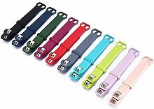 S Multi-Color Unisex 10 Stück Silikon-Armband