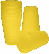 S&S-Shop 10 Plastik Trinkbecher 0,4 l - gelb -
