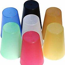 S&S-Shop 70 Plastik Trinkbecher 0,4 l - Mix Paket