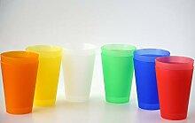 S&S-Shop 72 Plastik Trinkbecher 0,4 l - Mix-Pack