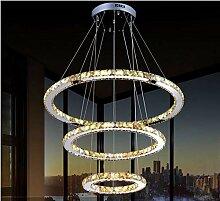 S&shan Moderner LED-Kristallleuchter beleuchtet
