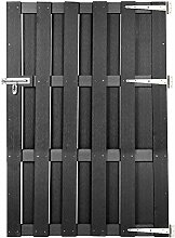 BxH 300 x 100 cm Arvotec Latten-Doppeltor Grado passend zum Lattenzaun Grado Pfosten zum aufd/übeln UV-best/ändiges Gartentor aus Kunststoff inkl 2-fl/ügelig wei/ß