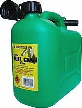 S Style Benzinkanister für Bleifreies Benzin, 5 Liter Und Trinkhalm, Grün