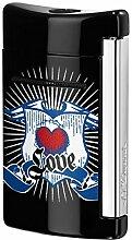 S.T.Dupont Feuerzeug Minijet schwarz Love